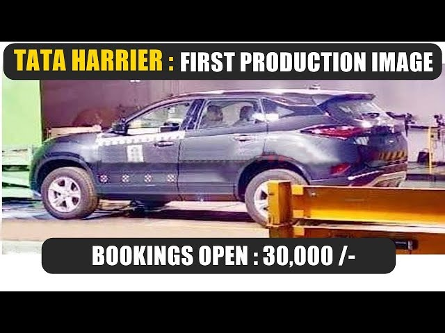 Tata Harrier bookings open | first production image revealed | side view | new updates