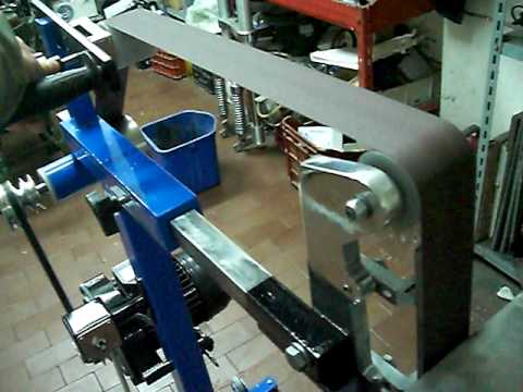 Levigatrice A Nastro Home Made Belt Grinder Youtube