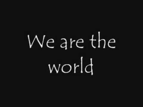 Usa For Africa We Are The World Song Lyrics Youtube