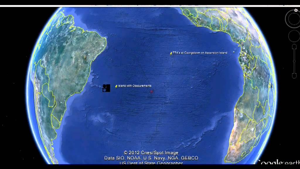 HAARP MASSIVE TTAs DISCOVERED On SECRET ISLAND And SEA FLOOR - Ascension island google map