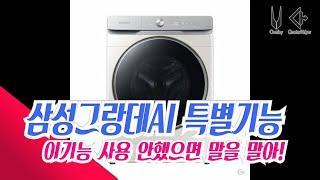 삼성그랑데AI 세탁기특별한기능  사용해봤어여?