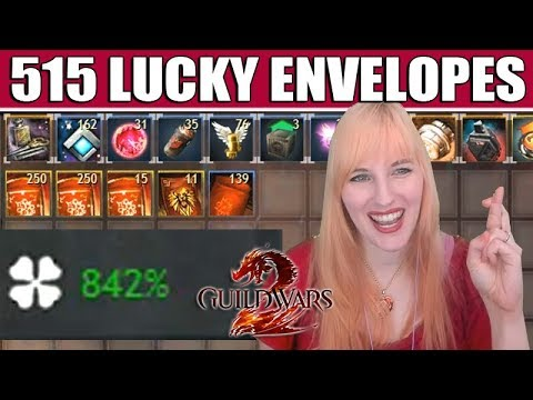 Opening 515 Lucky Envelopes @ 842% Magic Find ● Guild Wars 2 thumbnail