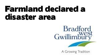 bwg farmland declared a disaster area