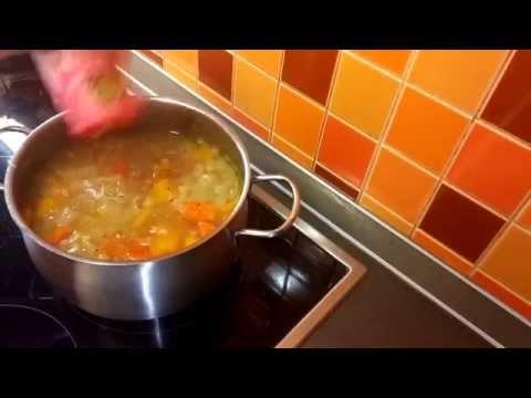 Постный тыквенный суп в мультиварке