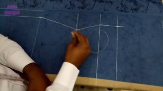 Collar Suit Cutting in Professional Style