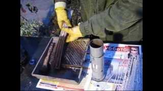 ▬► Как красить газетные трубочки. / How to paint the tube's from newspapers