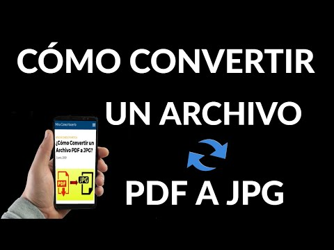 Cómo Convertir un Archivo PDF a JPG