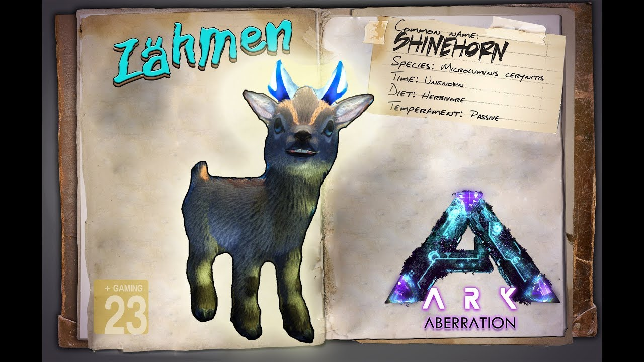 Ark Aberration Guidedeutsch Shinehorn Ziege Zähmen Dlc