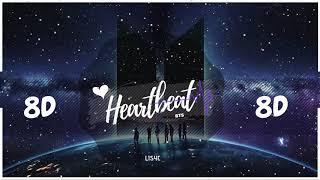 💜🌙 [8D AUDIO] BTS - HEARTBEAT | BASS BOOSTED | [USE HEADPHONES 🎧] 방탄소년단 | BTS WORLD