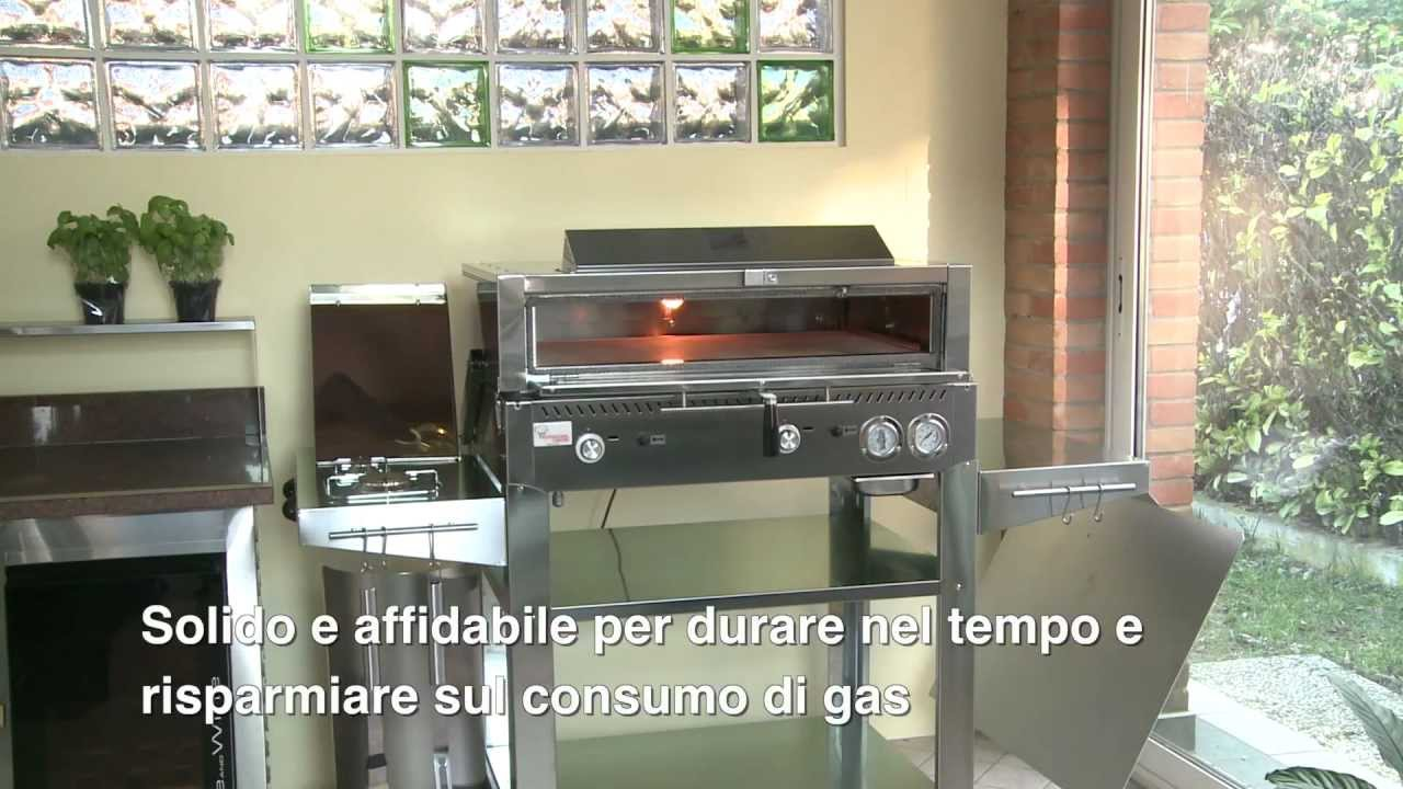 Combi l 39 innovativo barbecue forno youtube - Forno girevole per pizza ...