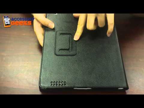 Genuine Black Leather Apple IPad 2 Case