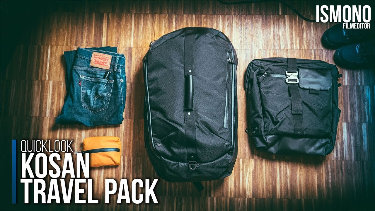 0bb50d00c6 How to travel with one bag  Kosan Travel Pack BACKPACK QUICKLOOK ...