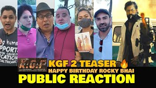 KGF 2 Teaser🔥 | PUBLIC REACTION & EXCITEMENT | Happy Birthday Rocking Star Yash 🎂|KGF 2 | FilmiFever