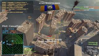 Battlefield 4 | PC | Carried by Spurr 4 | Attack Chopper Gameplay | 54 Kills