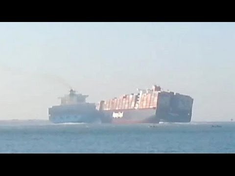 Two container ships collide on Egypt