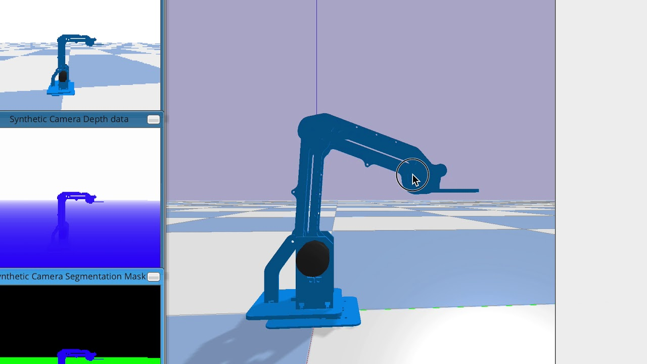 dobot robot arm simulated in pybullet