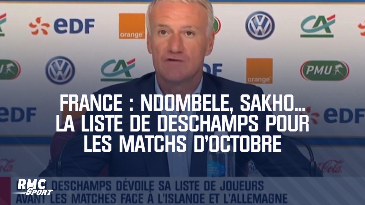 Équipe de France : Ndombele, Sakho... La liste de Deschamps pour les matchs d'octobre