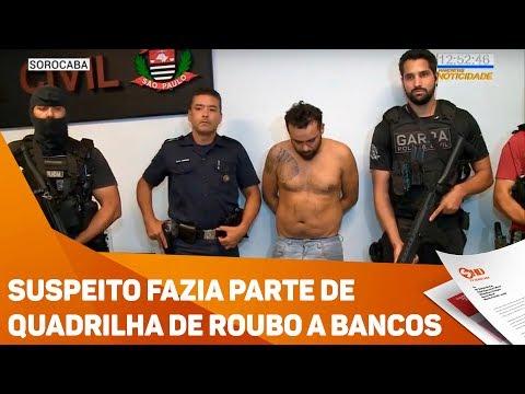 Suspeito fazia parte de quadrilha de roubo a bancos - TV SOROCABA/SBT