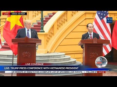 LIVE STREAM: President Donald Trump Press Conference w/ President of VIETNAM
