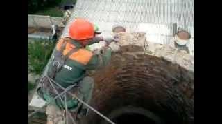 видео Демонтаж кирпичных труб, демонтаж трубы котельной