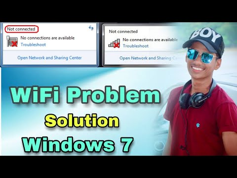 WiFi Not Working In Windows 7 | Solution