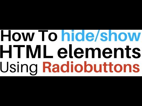 Show/Hide Elements With Javascript onclick Radio Button
