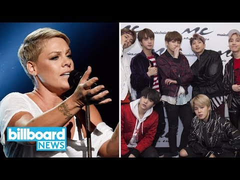 Artist 100 Chart: P!nk Returns to No. 1, BTS Bounds to No. 4 | Billboard News