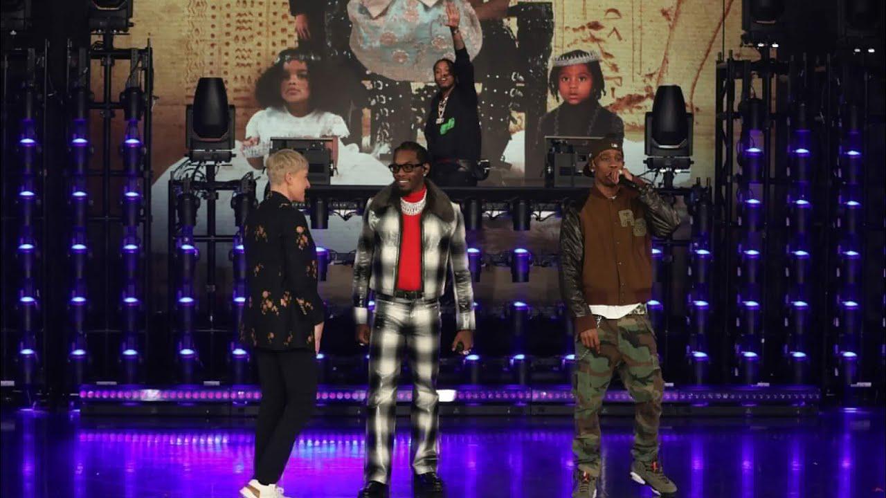 "0dbb57665bcb Offset and Travis Scott Preform ""Legacy"" Live on the Ellen Show ..."