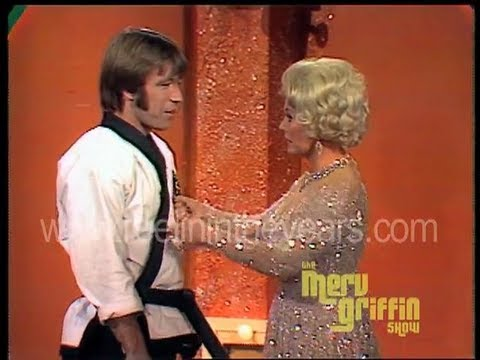 Chuck Norris and Eva Gabor  Karate Demonstration  1971