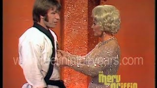 Chuck Norris and Eva Gabor - Karate Demonstration - 1971