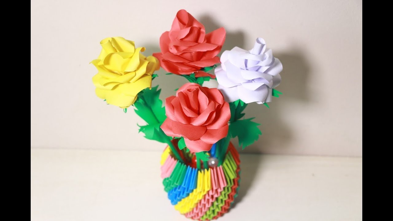 Make Origami Flower Rose Step By Step Tutorial Origami Rose