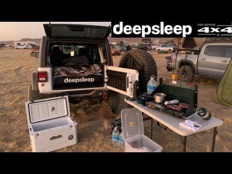 Sleeping In A Jeep Wrangler JLU - deepsleep Air Mattress Review & Set Up