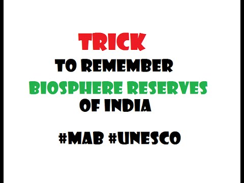 Trick to remember  10 Biosphere reserves of india #MAB #UNESCO