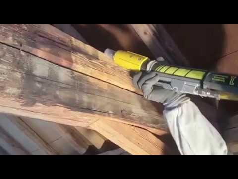 Holzbalken Schleifen holzbalken sandstrahlen - youtube
