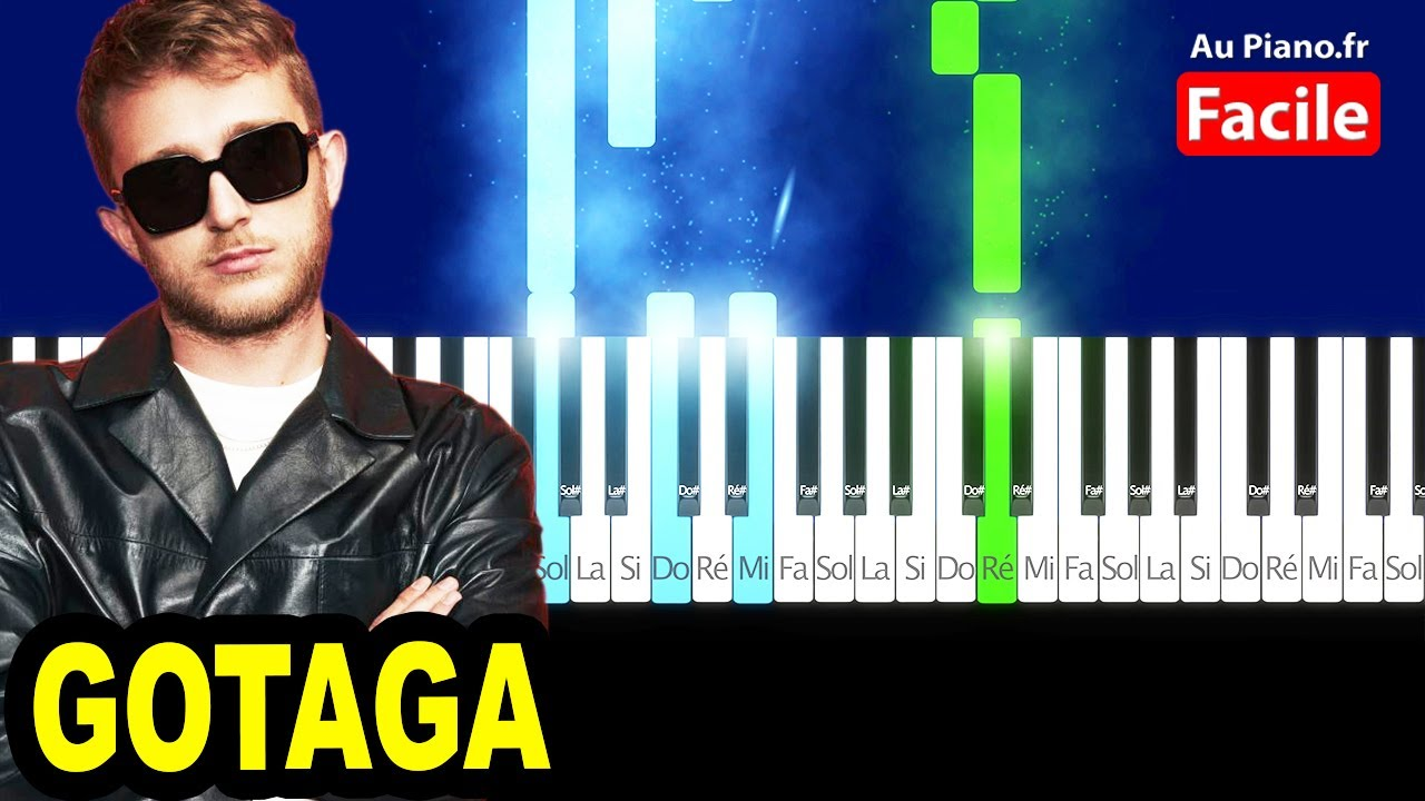 VALD GOTAGA Piano Cover Tutorial Instrumental Type (AuPiano.fr)