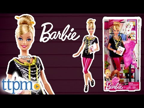 Barbie I Can Be Fashion Designer From Mattel Youtube