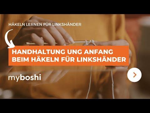 Handhaltung Anfang Beim Häkeln Linkshänder Anleitung видео с