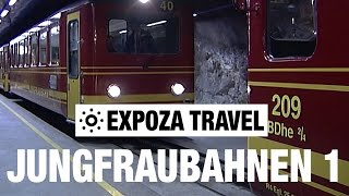 Jungfraubahnen Part 1 (Switzerland) Vacation Travel Video Guide(Travel video about destination Jungfraubahnen in Switzerland. With a train from the Jungfraubahn railway (JB) we travel from the 3454 meters above sea level ..., 2016-02-02T10:46:51.000Z)