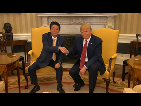President Donald Trump and Japanese Prime Minister Shinzo Abe hold a joint news conference.