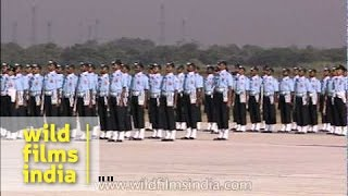 IAF marching contingent on Air Force day