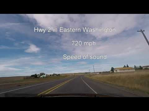 driving 2,000 mph on hwy 2 (Washington Sate)