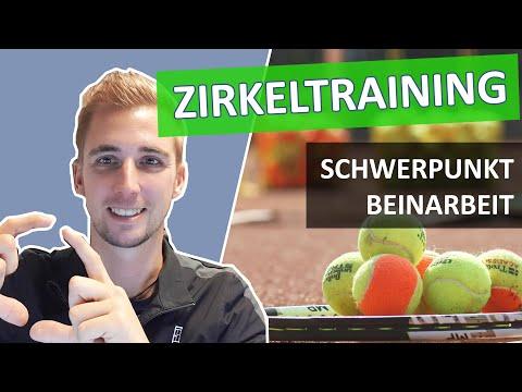 Tennistraining Übungen Gruppentraining Zirkeltraining im Tennis: Schwerpunkt Beinarbeit