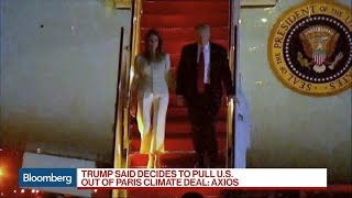 Trump to Withdraw U.S. From Paris Agreement: Axios