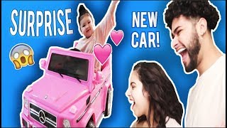 SURPRISING OUR BABY WITH HER DREAM CAR!!!