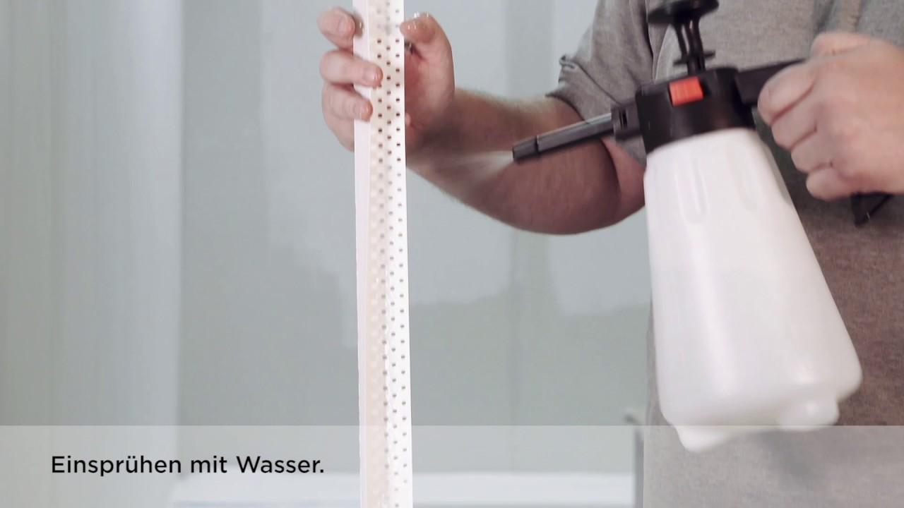 rigips aquabead flex pro der flexible kantenschutz von der rolle youtube. Black Bedroom Furniture Sets. Home Design Ideas