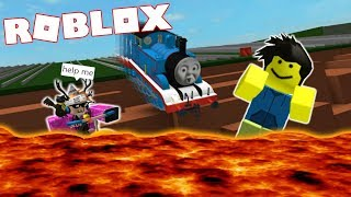 DRIVING THOMAS THE TRAIN OFF A CLIFF IN ROBLOX!!