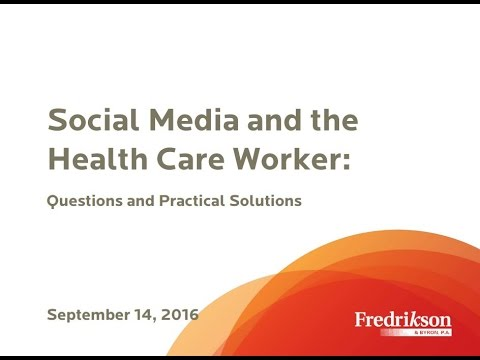 Social Media and the Health Care Worker: Questions and Practical Solutions
