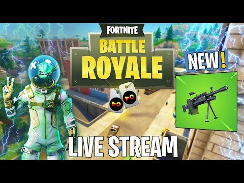 *New Amazing Gun - LMG Gameplay* Fortnite Battle Royale Live Stream (Fortnite Battle Royale Squads)