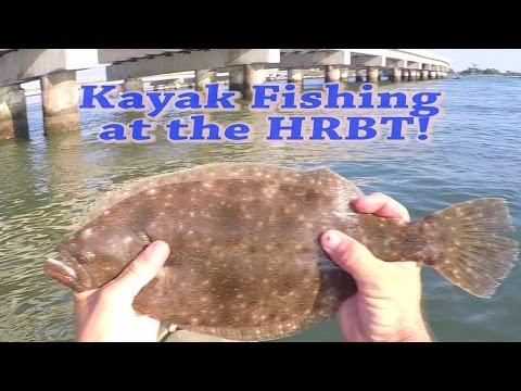 Kayak Flounder Fishing At The HRBT (Hampton VA)