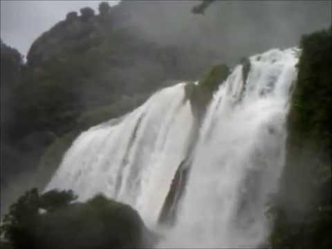 Waterfall in Italy- Cascata delle Marmore Italy  Percorso